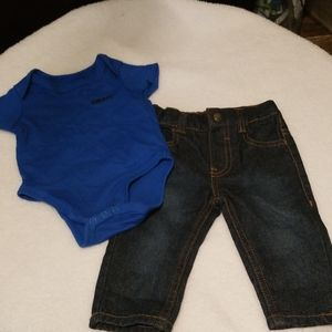 DKNY bodysuit and jeans